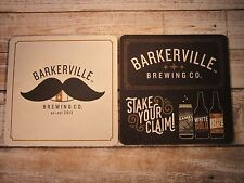 Beer Breweriana Coaster ~*~ BARKERVILLE Brewing Co ~ Quesnel, CANADA ~ Moustache