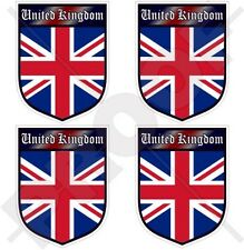REGNO UNITO Scudo Union Jack INGHILTERRA Adesivo in Vinile Sticker 50mm x4