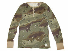 Ralph Lauren Denim and Supply Military Camo Polo Henley Slim Thermal Shirt XL