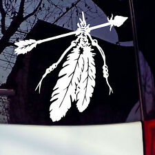 Native American Arrow & Feathe Car Window Sticker Laptop Truck Sign Vinyl Decal