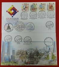 Four Nation Stamp Exhibition Cover Malaysia complete FDC 2015 no addition stamp