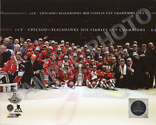 2014-2015 CHICAGO BLACKHAWKS STANLEY CUP CHAMPIONS 16X20 TEAM PHOTO #2