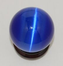 Cat's Eye 40mm Sphere Ball Globe Orb w/Stand, Blue, New, USA Seller