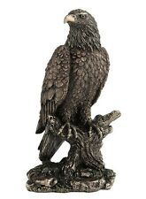 "9.75"" Bald Eagle Perching on Tree Nature Animal Wilderness Statue American Bird"