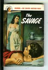 THE SAVAGE, rare US Lion #64 crime noir gga pulp vintage pb