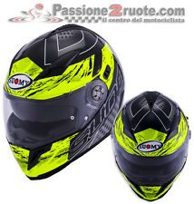 helm Suomy Halo Drift Black yellow casque moto integral ruder Größe M
