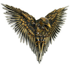 Nemesis Now Blade Raven Wall Plaque-Mounted Hanging Steampunk-Dimension 27cm