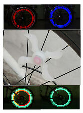 BICICLETTA LED luce di sicurezza ha parlato ruota CICLISMO BICI PUSH BMX MOUNTAIN BIKE SPORT