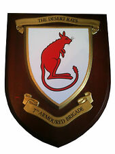 7th Armoured Desert Rats Military Shield Wall Plaque