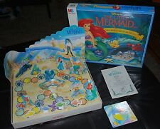 The Little Mermaid Board Game Journey Under the Sea Ariel 3D Disney MB 1990 Rare