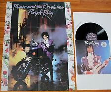 "PRINCE PURPLE RAIN / GOD INST.+VOCAL 12"" VINYL +POSTER 1984 PRISTINE N.MINT RARE"