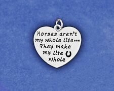 Sterling Silver Plt Charm Horses aren't my whole life They make my Hoof Print