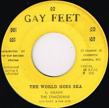 "gay feet 1 7"" : ETHIOPIANS-the world goes ska      (hear)   rock steady"