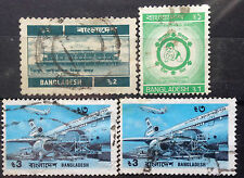 Bangladesh Used Stamps - 4 pcs Assorted Stamps