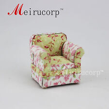 Fine 1/24 Scale Miniature Furniture Handmade Floral pattern chair