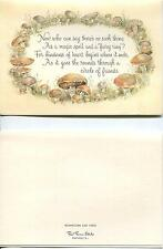 VINTAGE BUTTER COOKIE RECIPE PRINT 1 MUSHROOM FAIRY RING MAGIC SPELL ART CARD