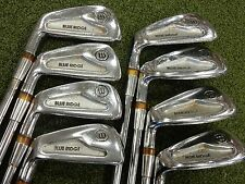 Vintage! Wilson Sam Snead Blue Ridge Blade Iron Set - Left Hand - Steel - 3-PW
