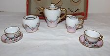 8-Piece Vintage Limoges Child's Miniature TEA SET from France