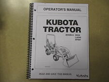 Kubota BX24 BX 24 tractor BT601 backhoe LA240 loader owners & manitenance manual