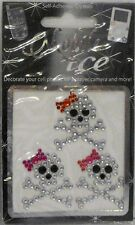 Girly Skull Crossbones Cell Phone Sticker Mobile Ice iPhone Sticker iPod Decal