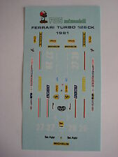 F1 DECALS KIT FERRARI 126 K TURBO F1 1981 FDS AUTOMODELLI
