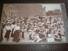 Cdv cabinet old photograph folk festival by Lussenhop Hanover Germany c1900s