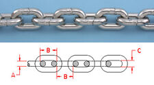 """5 ft 1/4"""" DIN 766 BBB 316L STAINLESS STEEL ANCHOR CHAIN Repl Suncor S0601-0007"""