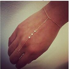 Slave Bracelet with Delicate Chain Ring - Gorgeous design - Superior Quality