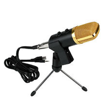 Professional Computer USB Studio Mic Condenser Recording Microphone w/ Stand