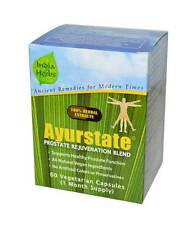 AYURSTATE 60 Capsules: Herbal Ayurvedic PROSTATE REMEDY in BPH Enlarged Prostate