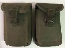 Pair chargers ammunition bag FAL rifle Argentine Army same troops Falkland War