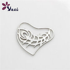 Feather Floating Locket charm 20mm silver discs Hearth for glass Living Memory -