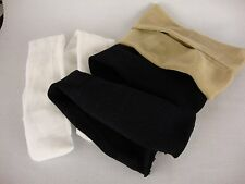 Set of 3 Pairs of Panty Hose in Tan, Black & White for 18 Inch Dolls
