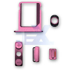 Pink Button & Sim Tray Set for iPhone 4/4G GSM ATT Volume/Power/Silent Switch