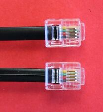 "RJ11 to RJ11 ""12M"" ADSL 4 Wire Broadband Cable Black for Router to ADSL Filter"
