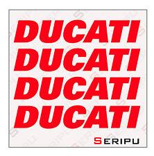 X4 DECAL DUCATI INTERIOR LLANTA  VINILO RECORTE PEGATINA MOTO GP. ENDURO