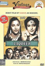 TAQDEER - NARGIS - MOTILAL - NEW BOLLYWOOD DVD + 1 FREE SONGS VCD INSIDE