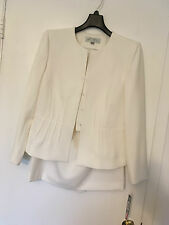 New women's two pieces Tahari skirt suit, size10P, with lining,ivory white color