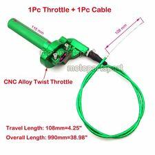 1/4 Turn Twist Throttle & Cable Green For Kawasaki Dirt Bike KX125 KX250 KX110