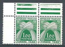 France 1946 Sc# J79 upper pair with gutter on side Sheaves of Weat MNH CV$100