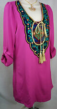 NWT $48 HOT & DELICIOUS Arabian Night BOHO Boutique Womens Dress Size Medium 4 6