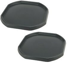 2 x Large Builders MIXING TRAY Cement Mortar Sand Plastering Spot Trendy Black