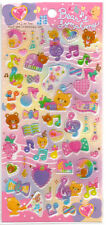 Bears Symphony Stickers Sticker Sheet Thick PVC Kawaii Stationery Music Notes