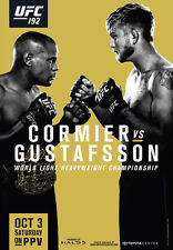 UFC 192 Official Full-Sized Event Poster DANIEL CORMIER vs ALEXANDER GUSTAFSSON