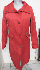 Womens COLE HAAN Collection Red Lined Rain Trench Thermore Coat Jacket 4 thermal