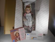 Vtg Heritage Dolls Hamilton Collection Porcelain Jessica Doll with COA - In Box