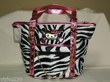 Funky Divas x Hello Kitty Tote Bag Black/White Zebra Sanrio 2006 kwaii NWT Rare!