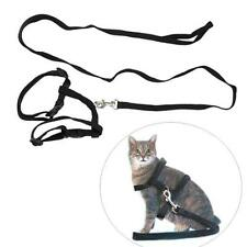 Professional Adjustable Pet Cat Kitten Nylon Lead Leash Harness Set