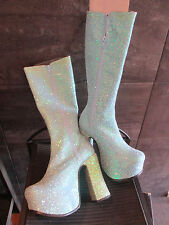 El Dantes baby blue glitter Kimberly boots size 36
