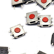 100 Pcs Momentary Tactile Tact Red Push Button Switch 5 Pin SMT SMD 6x6x3.7mm